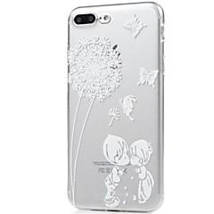 Назначение iPhone X iPhone 8 Чехлы панели Ультратонкий Прозрачный С узором Задняя крышка Кейс для Бабочка одуванчик Мягкий Термопластик