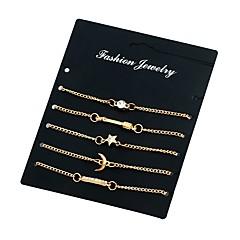 Damskie Bransoletki i łańcuszki na rękę Kryształ Rhinestone Modny Metaliczny Kryształ górski Stop Star Shape Księżyc Biżuteria Na Casual