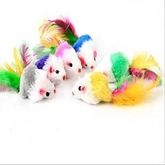 hesapli -Kedi Kedi Oyuncağı Evcil Hayvan Oyuncakları Peluş Oyuncaklar Mouse Yapay Tüy Evcil hayvanlar için