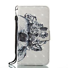 Назначение iPhone X iPhone 8 Чехлы панели Кошелек Бумажник для карт со стендом Флип С узором Магнитный Чехол Кейс для Черепа Твердый