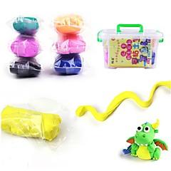 Super Light Clay Modellera Leksaker Utbildningsleksak 12 färg Leksaker Nyhet Vänner Födelsedag GDS (Gör det själv) Ny Design Pojkar