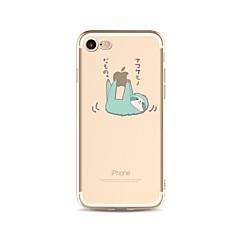 Недорогие Кейсы для iPhone 6 Plus-Кейс для Назначение Apple iPhone X / iPhone 8 Plus / iPhone 7 Прозрачный / С узором Кейс на заднюю панель Композиция с логотипом Apple / Мультипликация Мягкий ТПУ для iPhone X / iPhone 8 Pluss