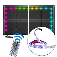 2M USB LED Strip Light Waterproof SMD5050 RGB LED Strip Flexible LED Lights 44keys Remote TV Background Lighting DC5V