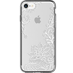 Para iPhone 7 iPhone 7 Plus Case Tampa Ultra-Fina Transparente Estampada Capa Traseira Capinha Lace Impressão Macia PUT para Apple iPhone