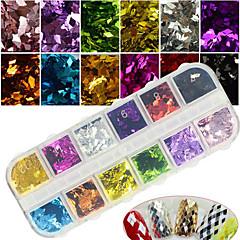 12colors / box värikäs rombi charmi nail art 3d kimalluspalat loistava diy manikyyri koristelu