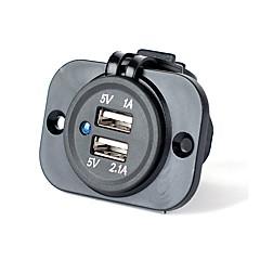 Недорогие Автоэлектроника-Несколько портов 2 USB порта Только зарядное устройство DC 5V/2,1A