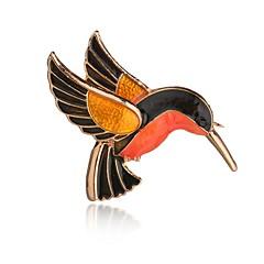 Χαμηλού Κόστους Καρφίτσες-Γυναικεία Κοριτσίστικα Καρφίτσες Κοσμήματα Άνιμαλ Λατρευτός Κράμα Πουλί Κοσμήματα Για Πάρτι