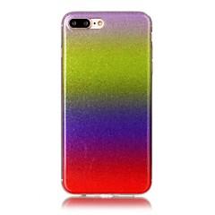 Назначение iPhone X iPhone 8 Чехлы панели Ультратонкий С узором Задняя крышка Кейс для Сияние и блеск Градиент цвета Мягкий Термопластик