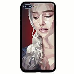Назначение iPhone 7 iPhone 7 Plus Чехлы панели Матовое С узором Задняя крышка Кейс для Соблазнительная девушка Твердый Акриловое волокно