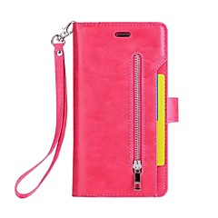 billige iPhone-etuier-Etui Til Apple iPhone 7 Plus iPhone 7 Kortholder Pung Med stativ Fuldt etui Helfarve Hårdt PU Læder for iPhone 7 Plus iPhone 7 iPhone 6s