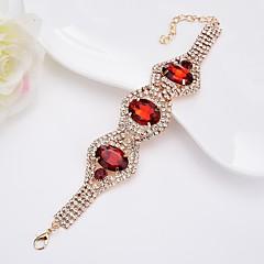 preiswerte Armbänder-Damen Kristall Armreife - Krystall Simple Style, Elegant Armbänder Schwarz / Dunkelblau / Rot Für Normal / Formal