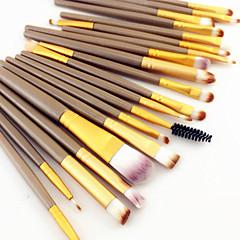 hesapli -20pcs yanlısı göz farı makyaj fırça seti toz temeli eyeliner kapatıcı dudak kaş kıvırcık kozmetik fırça 3 renk seti