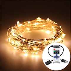 cheap LED Strip Lights-10M Waterproof 5V USB LED Light String Silver Copper LED Light String Cactus Wedding Party & RF Remote Control