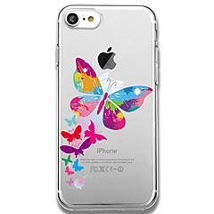 Назначение iPhone 8 iPhone 8 Plus Чехлы панели С узором Задняя крышка Кейс для Бабочка Мягкий Термопластик для Apple iPhone 8 Plus iPhone