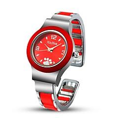 voordelige Armbandhorloges-Dames Modieus horloge Unieke creatieve horloge Gesimuleerd Diamant Horloge Chinees Kwarts Legering Band Bangle armband Zwart Wit Rood