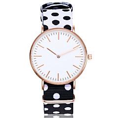 billige Dame Ure-Herre Dame Unik Creative Watch Modeur Armbåndsur Kinesisk Quartz Nylon Bånd Vintage Afslappet Bohemisk Elegant Sort Blåt Grøn Gul