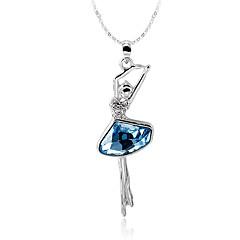preiswerte Halsketten-Damen Kristall Kubikzirkonia Halsketten / Anhängerketten - Zirkon, versilbert Personalisiert, Modisch Silber Modische Halsketten Schmuck Für Hochzeit, Party