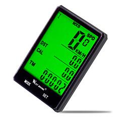 West biking Cykelcomputere Vandtæt Av - Gennemsnitshatighed Triptæller LCD Kabelkoblet Max - Maximum Hastighed SPD - Aktuelle Hastighed