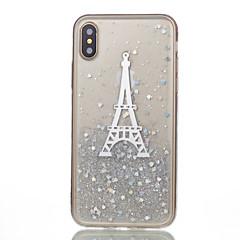 Χαμηλού Κόστους Θήκες iPhone-Για iPhone X iPhone 8 iPhone 8 Plus Θήκες Καλύμματα Με σχέδια Πίσω Κάλυμμα tok Πύργος του Άιφελ Μαλακή Σιλικόνη για Apple iPhone X iPhone