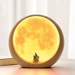 콘템포라리 앤티크 단순한 현대적인 스타일 러스틱 창조적 전통적/ 클래식 테이블 램프 , 특색 용 충전식 장식 야광의 , 와 플라스틱 용도 스위치