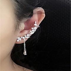 preiswerte Ohrringe-Damen Kristall Quaste Ohrstecker Unterschiedliche Ohrringe Ohr Kletterer - Sterling Silber, Krystall Personalisiert, Modisch Silber Für Normal Ausgehen