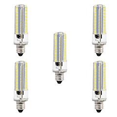 お買い得  LED 電球-BRELONG® 5個 8W 700lm E14 LEDコーン型電球 152 LEDビーズ SMD 3014 調光可能 温白色 ホワイト 220V 110V