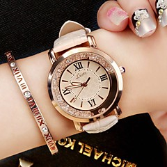 Women's Casual Watch Fashion Watch Wrist watch Chinese Quartz / PU Band Luxury Sparkle Vintage Casual Elegant Black White Blue Pink