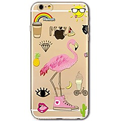billige Dagens Tilbud-Til iPhone X iPhone 8 Etuier Ultratyndt Transparent Mønster Bagcover Etui Flamingo Blødt TPU for Apple iPhone X iPhone 8 Plus iPhone 8