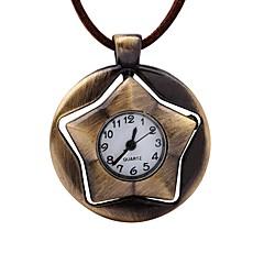 tanie Zegarki kieszonkowe-Męskie Zegarek kieszonkowy Chiński Mechaniczny, nakręcanie ręczne Skóra Pasmo Postarzane Kreatywne Brązowy