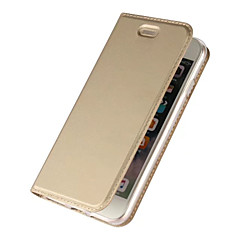 halpa iPhone 7 kotelot-Etui Käyttötarkoitus Apple iPhone 7 Plus iPhone 7 Korttikotelo Tuella Flip Magneetti Suojakuori Yhtenäinen väri Kova PU-nahka varten