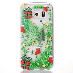 na pokrycie sprawy płynącej cieczy przezroczystej obudowy pokrywa tylnej obudowy Boże Narodzenie twardy pc dla Samsung Galaxy S6 krawędzi