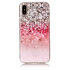 Voor iPhone X iPhone 8 Hoesje cover Ultradun Patroon Achterkantje hoesje Glitterglans Zacht TPU voor Apple iPhone X iPhone 7s Plus iPhone