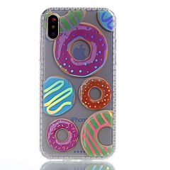 Назначение iPhone X Чехлы панели С узором Задняя крышка Кейс для Продукты питания Твердый Акриловое волокно для Apple iPhone X