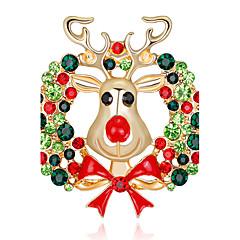 hesapli -Kadın's Broşlar Yapay Elmas Moda Chrismas alaşım Mücevher Mücevher Uyumluluk Noel