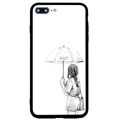 Назначение iPhone 7 iPhone 7 Plus Чехлы панели Защита от удара С узором Задняя крышка Кейс для Соблазнительная девушка Мягкий Силикон для