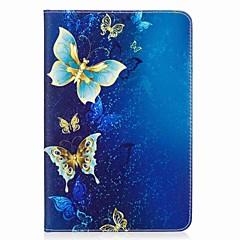 preiswerte Tablet-Hüllen-Hülle Für Samsung Galaxy / Tab A 8.0 Ganzkörper-Gehäuse / Tablet-Hüllen Schmetterling Hart PU-Leder für