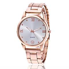preiswerte Damenuhren-Herrn Damen Armbanduhr Quartz Armbanduhren für den Alltag Metall Band Analog Charme Kleideruhr Silber / Gold / Rotgold - Gold Silber Rotgold