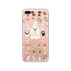 Недорогие Кейсы для iPhone X-Кейс для Назначение iPhone X iPhone 8 Прозрачный С узором Задняя крышка С собакой Мягкий TPU для iPhone X iPhone 8 Plus iPhone 8 iPhone 7