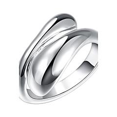 お買い得  指輪-女性用 ナックリリング - 銅, 銀メッキ シンプル, ロック, 甘い 調整可 シルバー 用途 日常 / カジュアル