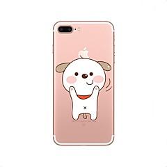 Недорогие Кейсы для iPhone 7-Кейс для Назначение Apple iPhone X iPhone 8 Прозрачный С узором Кейс на заднюю панель С собакой Мягкий ТПУ для iPhone X iPhone 8 Pluss