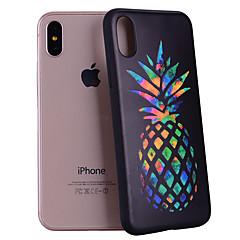 Недорогие Кейсы для iPhone-Кейс для Назначение Apple iPhone X / iPhone 8 С узором Кейс на заднюю панель Фрукты Мягкий Силикон для iPhone X / iPhone 8 Pluss / iPhone 8