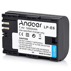 hesapli -andoer lp-e6 yeniden şarj edilebilir yedek kamera video kamera li-ion lityum pil tam kodlanmış 1800mah canon eos için yüksek kapasiteli 5d