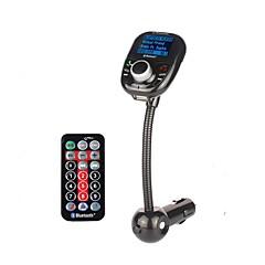 bt002 mașină universală fără fir mp3 player audio bluetooth transmițător fm cu telecomandă mâini libere lcd ecran usb încărcător