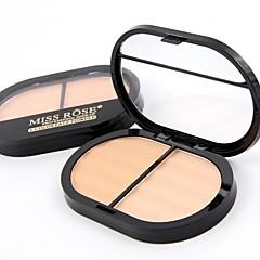 billige Ansigtssminke-2 Pudder Concealer/kontur Presset pudder Mat Mineral Presset Pulver Længerevarende Ansigt