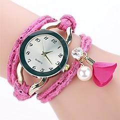 preiswerte Tolle Angebote auf Uhren-Damen Quartz Simulierter Diamant Uhr Armband-Uhr Chinesisch Imitation Diamant PU Band Charme Freizeit Elegant Modisch Schwarz Blau Rot