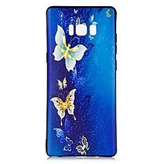 billige Galaxy Note Edge Etuier-Etui Til Mønster Bagcover Sommerfugl Blødt TPU for Note 8 Note 5 Edge Note 5 Note 4 Note 3 Lite Note 3 Note 2 Note Edge Note