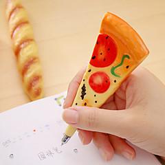 1 pc 시뮬레이션 피자 magetic 검정 잉크 볼펜