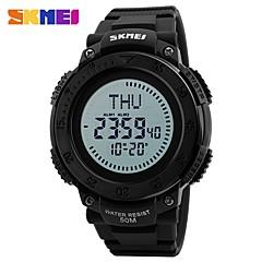 SKMEI Ανδρικά Αθλητικό Ρολόι Ψηφιακό ρολόι Ψηφιακό Compass Διπλές Ζώνες Ώρας PU Μπάντα Μαύρο Πράσινο