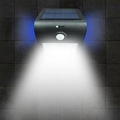 levne Venkovní světla-dlouhé 1 ks 2w led senzor lidského těla vodotěsný venkovní záplava bílá světlo zlatá / bílá / stříbrná / černá