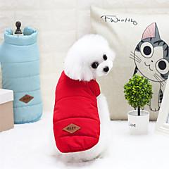 قط كلب المعاطف سترة ملابس الشتاء ملابس الكلاب شتاء كاجوال/يومي مقاومة الماء الدفء الرياضات رياضة رأس السنة حرف وعدد أصفر أحمر أزرق كوستيوم